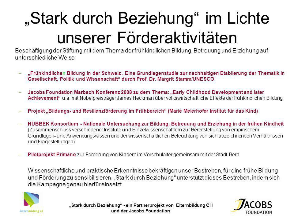 """""""Stark durch Beziehung im Lichte unserer Förderaktivitäten"""