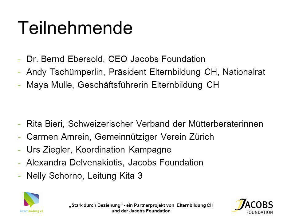 Teilnehmende Dr. Bernd Ebersold, CEO Jacobs Foundation