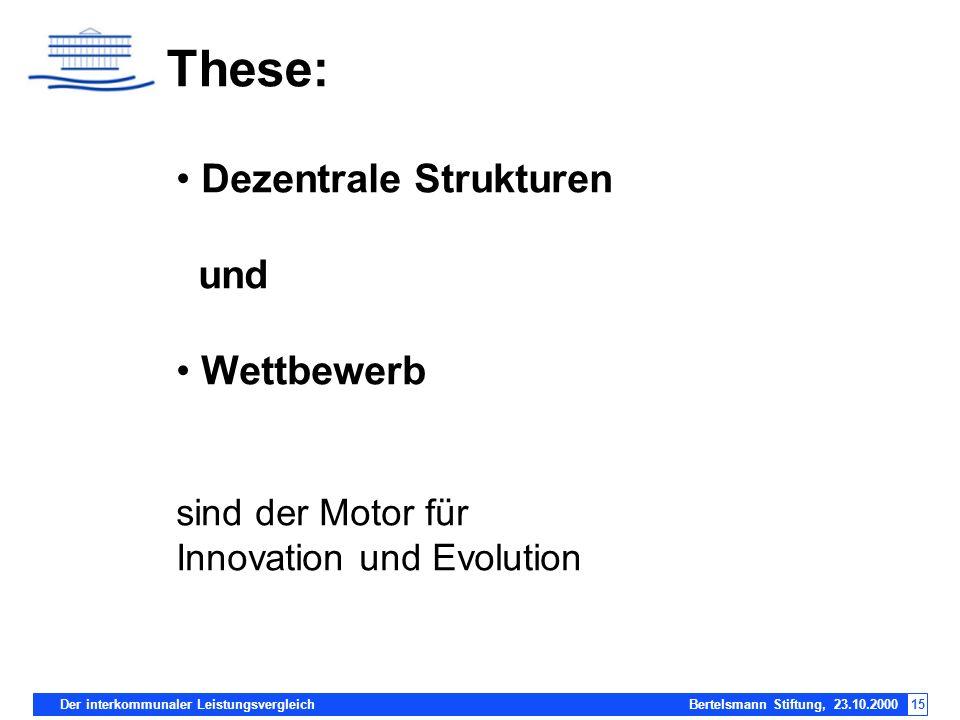 These: Dezentrale Strukturen und Wettbewerb sind der Motor für