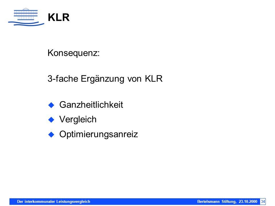KLR Konsequenz: 3-fache Ergänzung von KLR Ganzheitlichkeit Vergleich