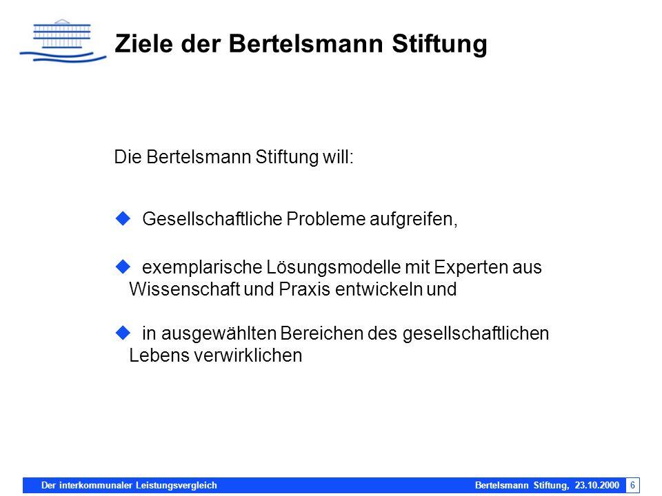 Ziele der Bertelsmann Stiftung