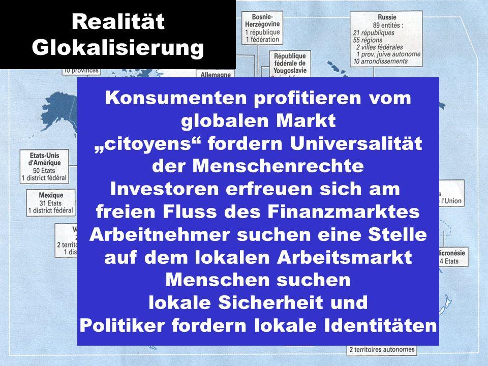 Realität Glokalisierung Konsumenten profitieren vom globalen Markt