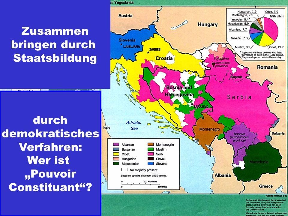 """Zusammen bringen durch Staatsbildung durch demokratisches Verfahren: Wer ist """"Pouvoir Constituant"""