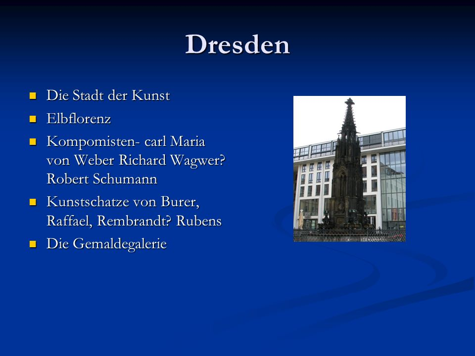 Dresden Die Stadt der Kunst Elbflorenz