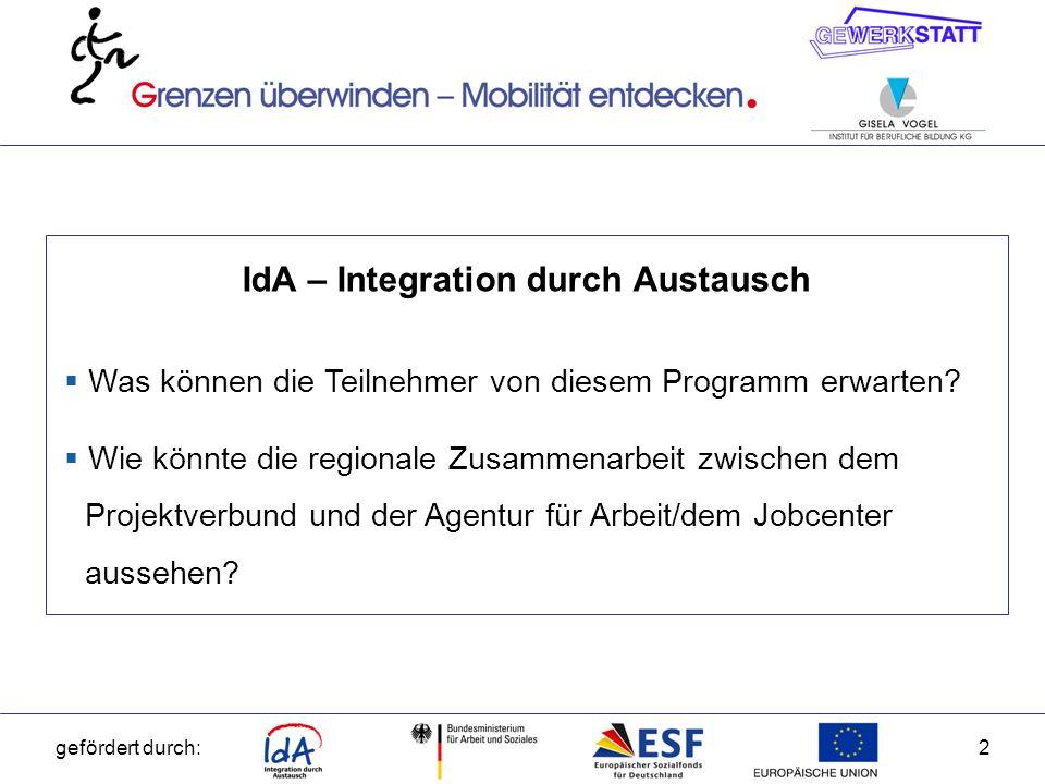 IdA – Integration durch Austausch