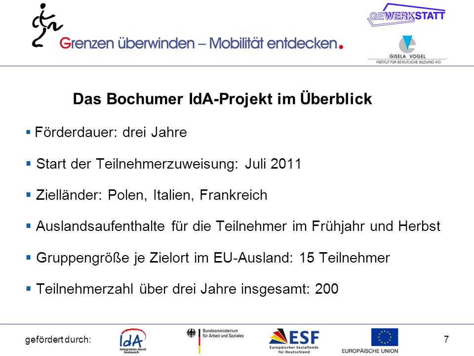 Das Bochumer IdA-Projekt im Überblick