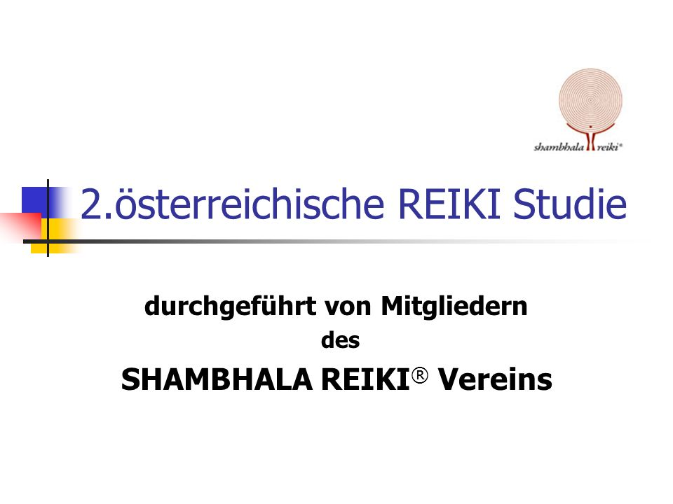 2.österreichische REIKI Studie