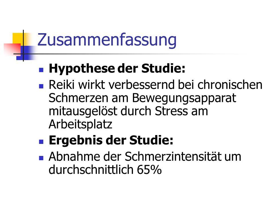 Zusammenfassung Hypothese der Studie: