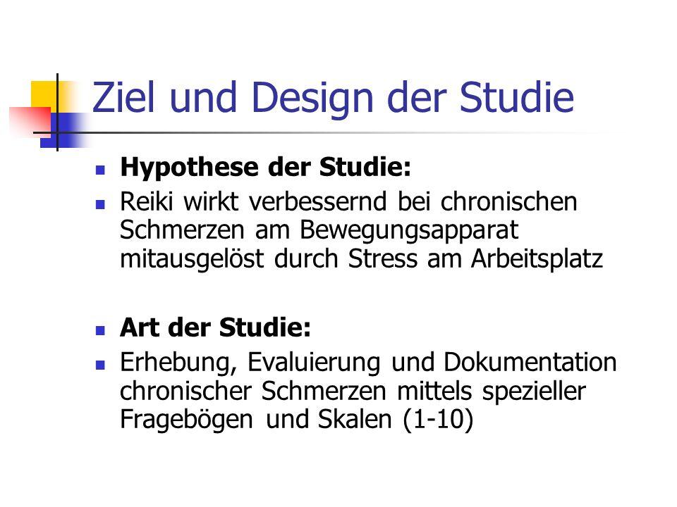 Ziel und Design der Studie