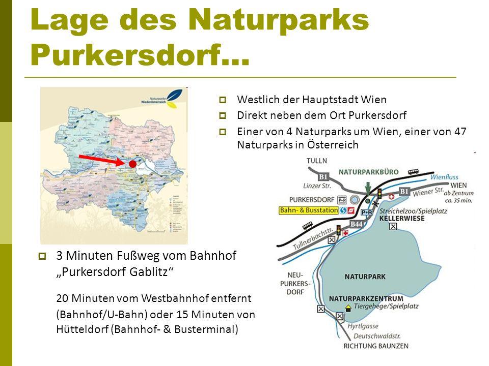 Lage des Naturparks Purkersdorf…