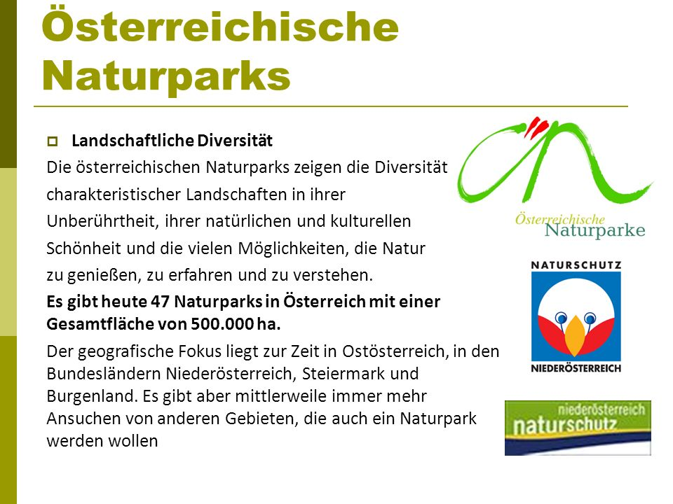 Österreichische Naturparks