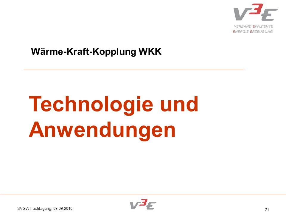 Technologie und Anwendungen Wärme-Kraft-Kopplung WKK