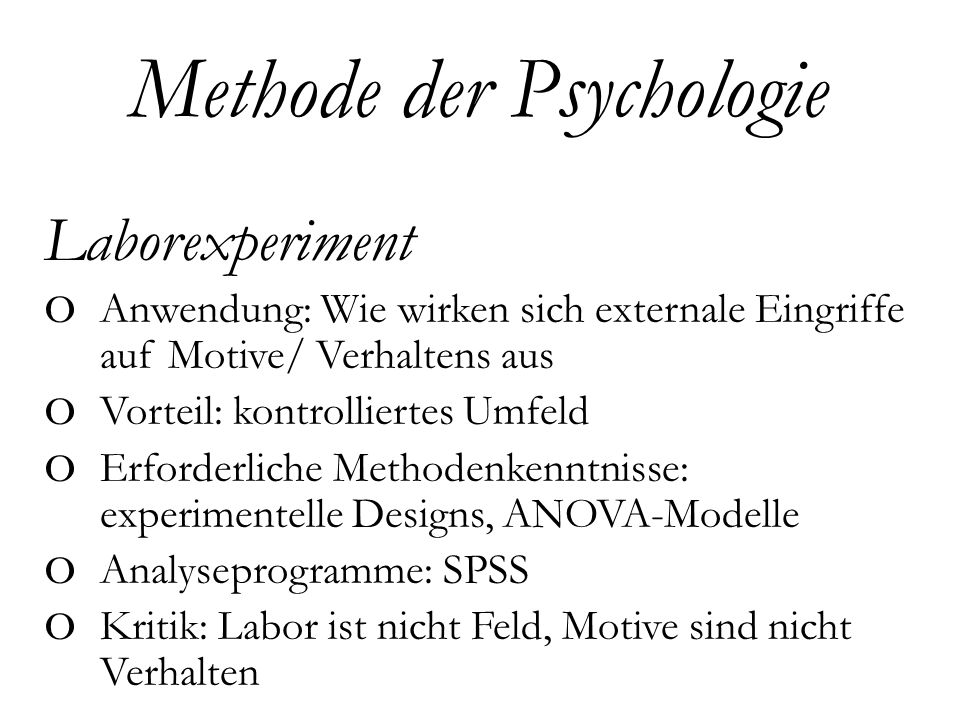 Methode der Psychologie