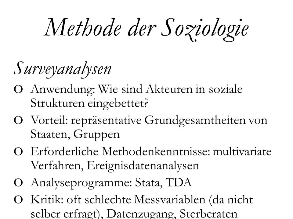 Methode der Soziologie