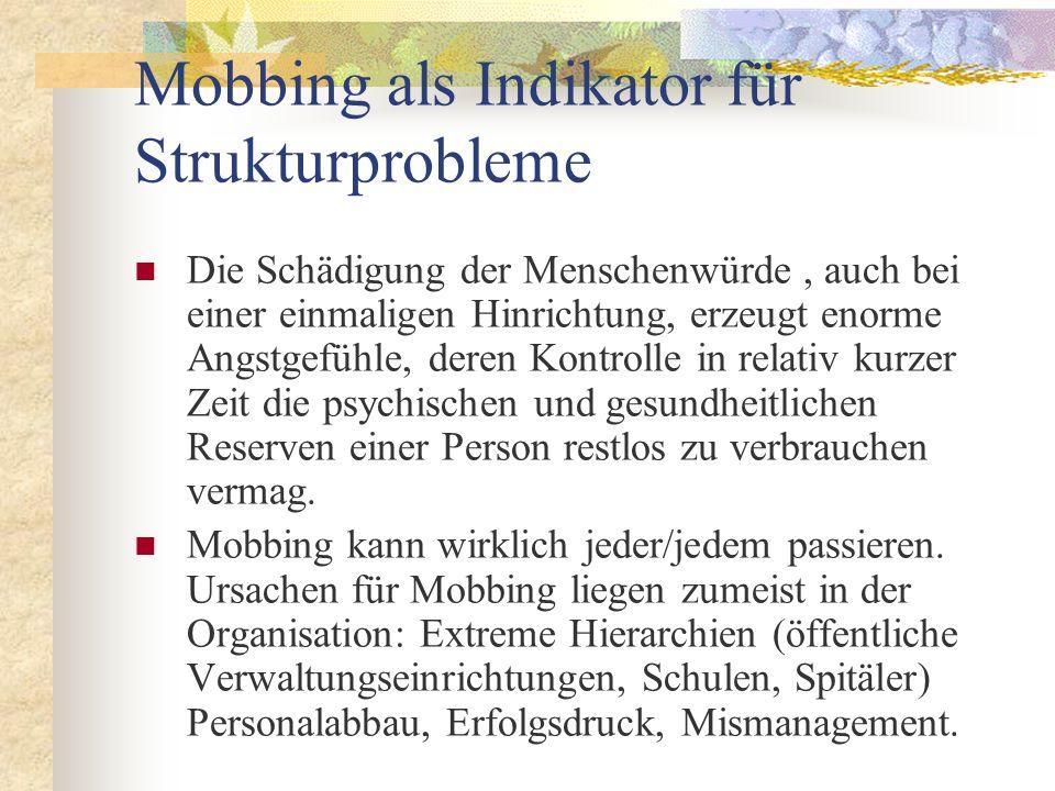 Mobbing als Indikator für Strukturprobleme