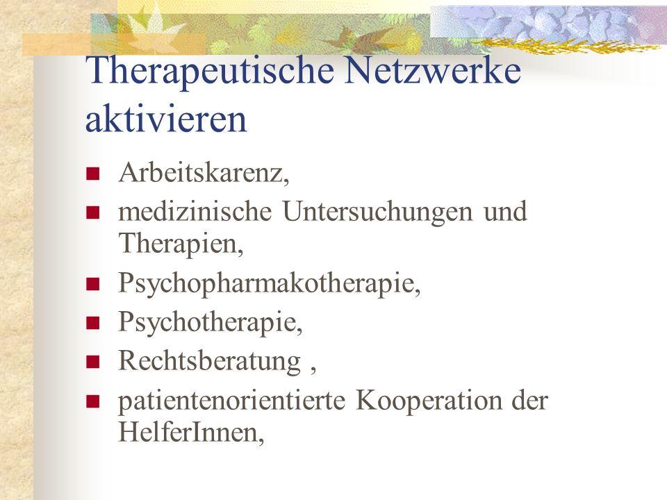 Therapeutische Netzwerke aktivieren