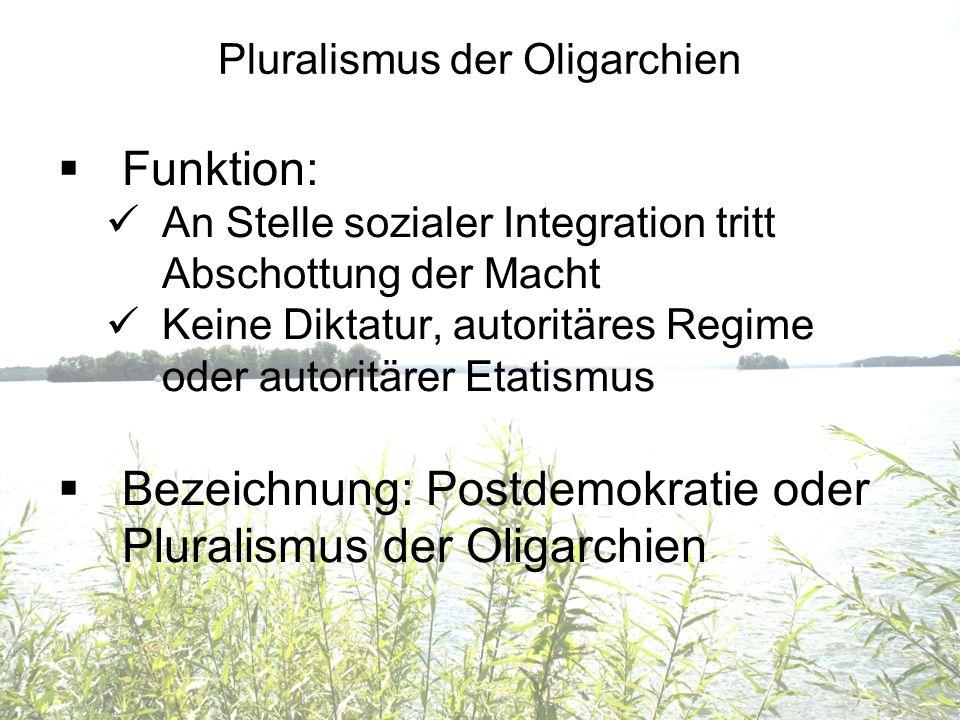 Pluralismus der Oligarchien