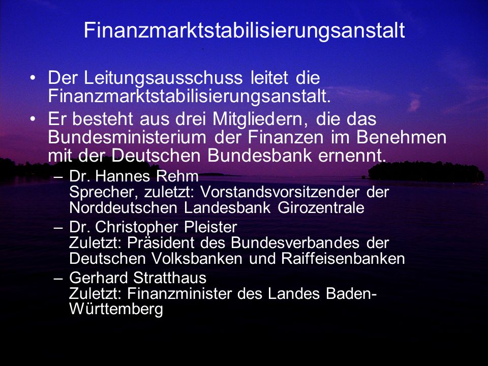 Finanzmarktstabilisierungsanstalt