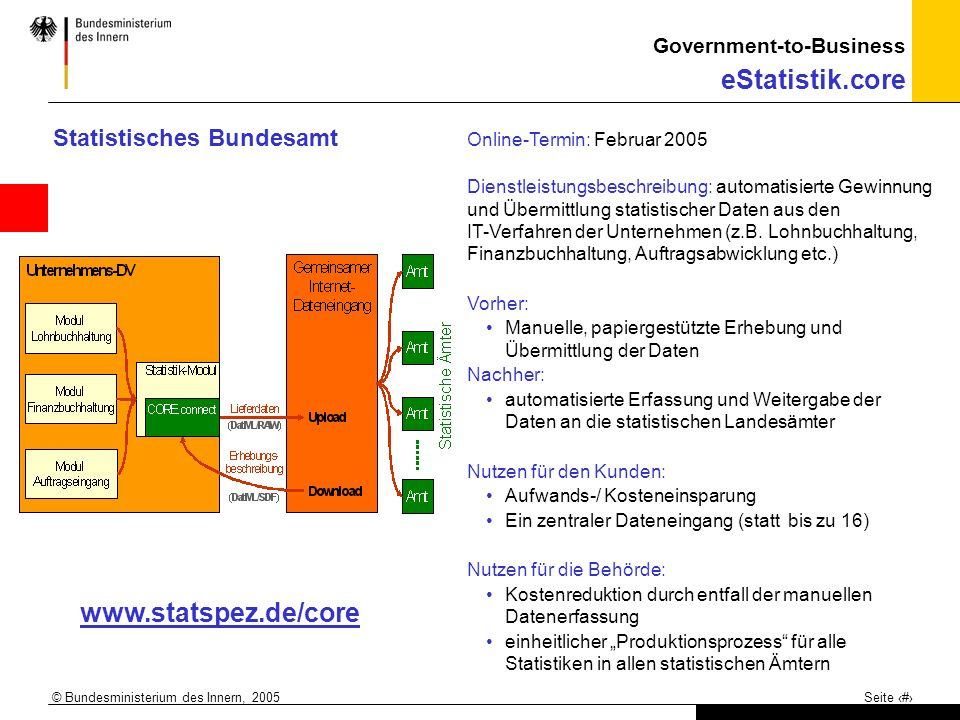 www.statspez.de/core Statistisches Bundesamt
