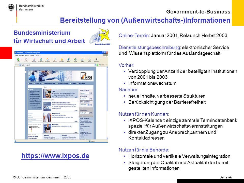 https://www.ixpos.de Bundesministerium für Wirtschaft und Arbeit