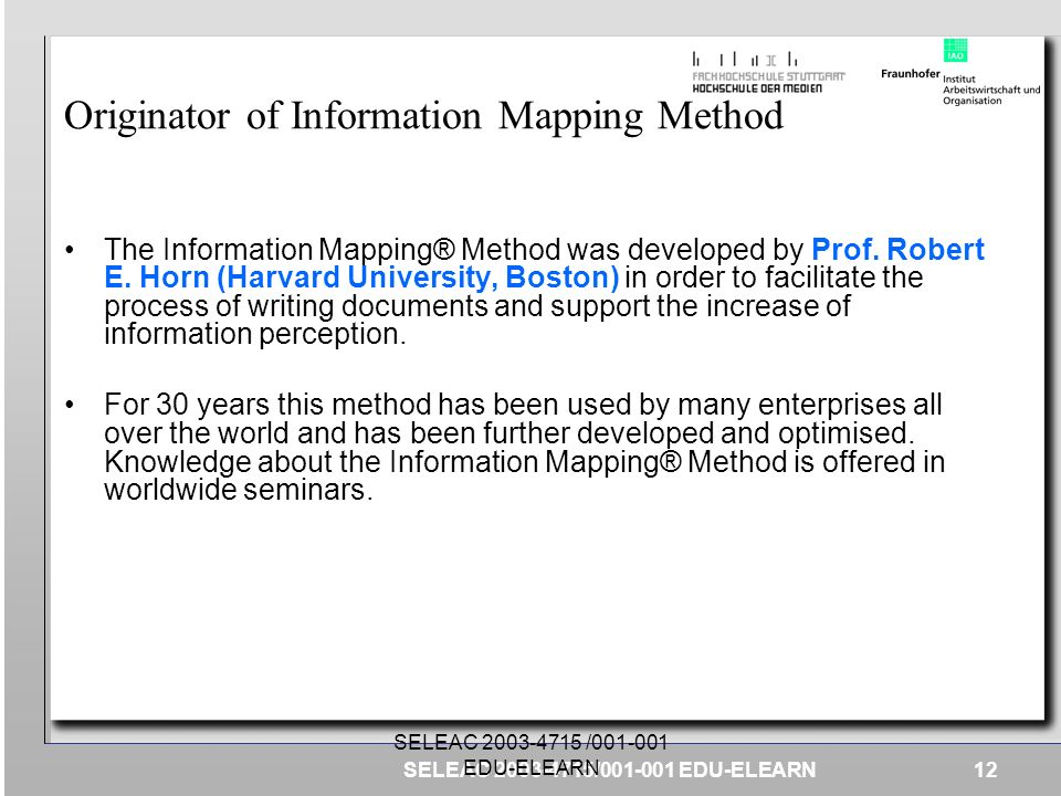 Originator of Information Mapping Method