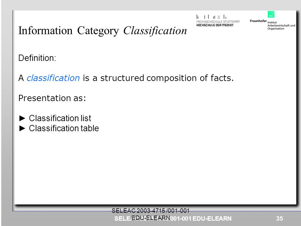 Information Category Classification
