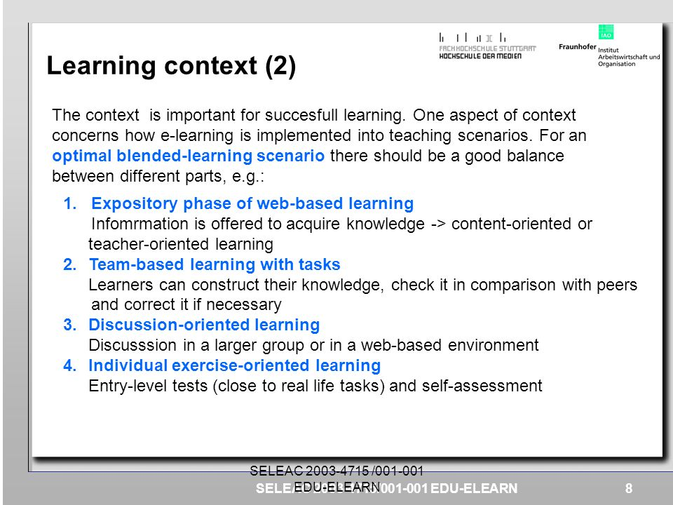 Learning context (2)