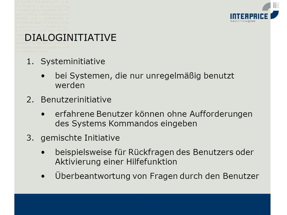 DIALOGINITIATIVE Systeminitiative
