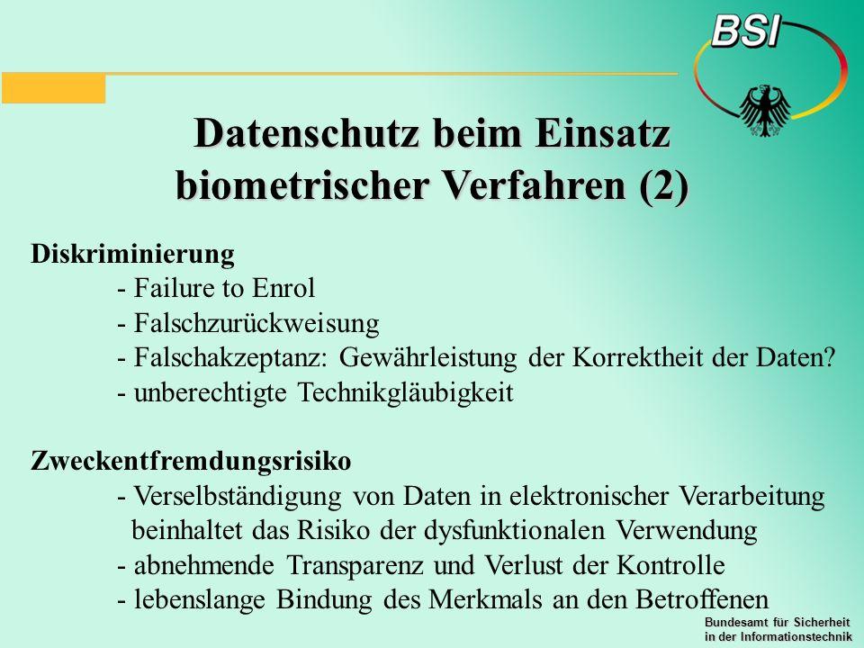 Datenschutz beim Einsatz biometrischer Verfahren (2)