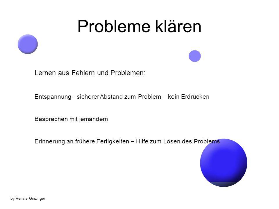 Probleme klären Lernen aus Fehlern und Problemen: