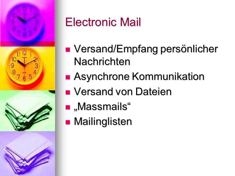 Electronic Mail Versand/Empfang persönlicher Nachrichten