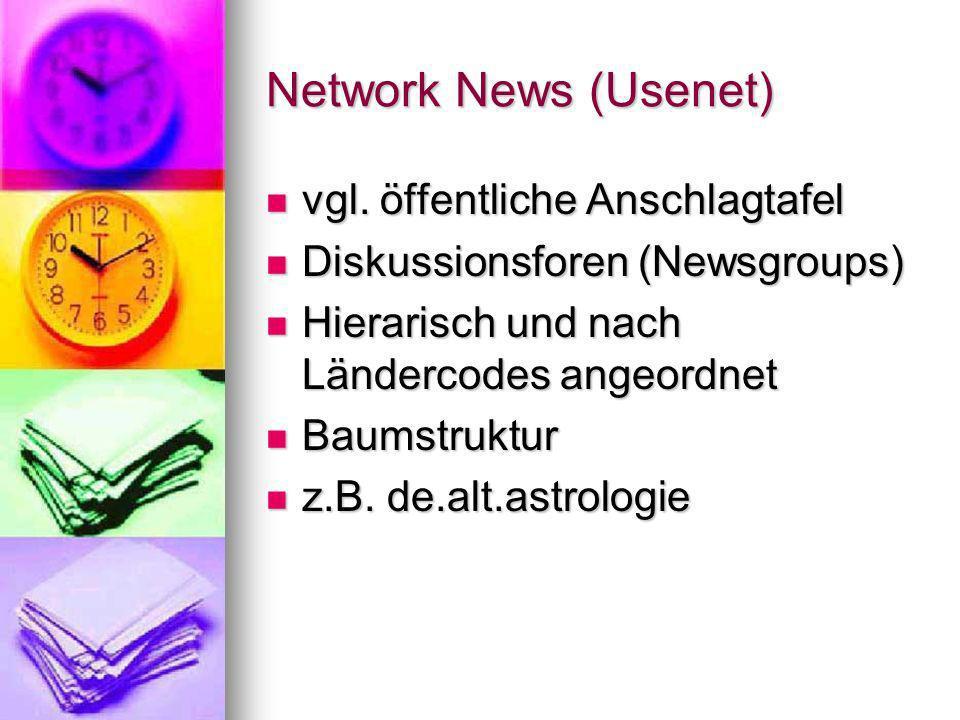 Network News (Usenet) vgl. öffentliche Anschlagtafel