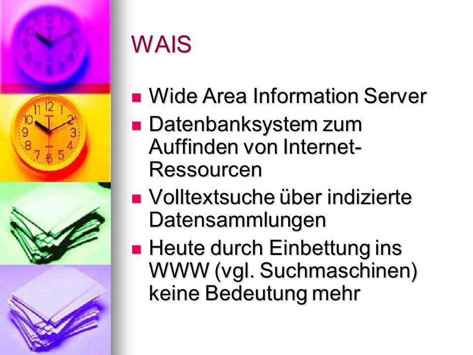 WAIS Wide Area Information Server