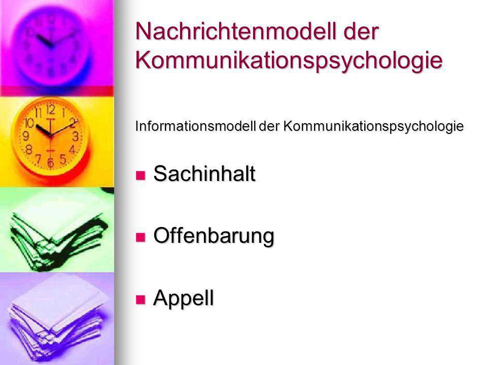Nachrichtenmodell der Kommunikationspsychologie