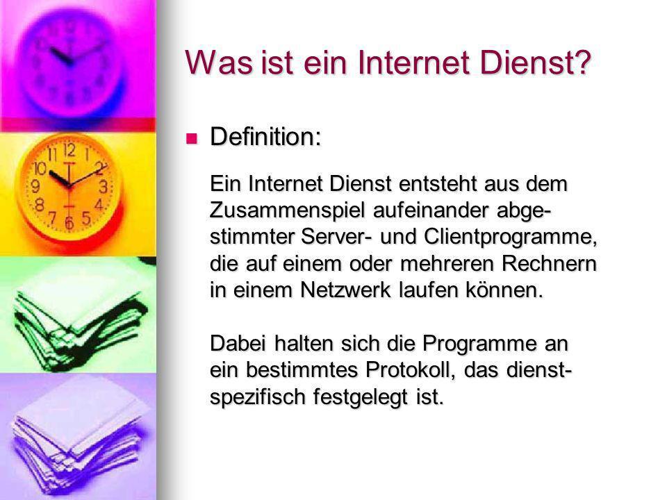 Was ist ein Internet Dienst