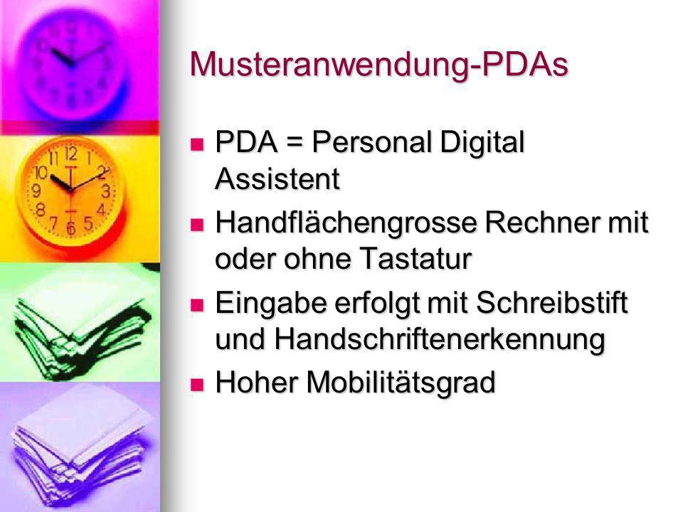 Musteranwendung-PDAs