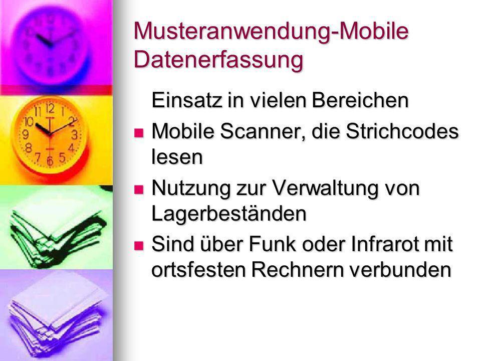 Musteranwendung-Mobile Datenerfassung