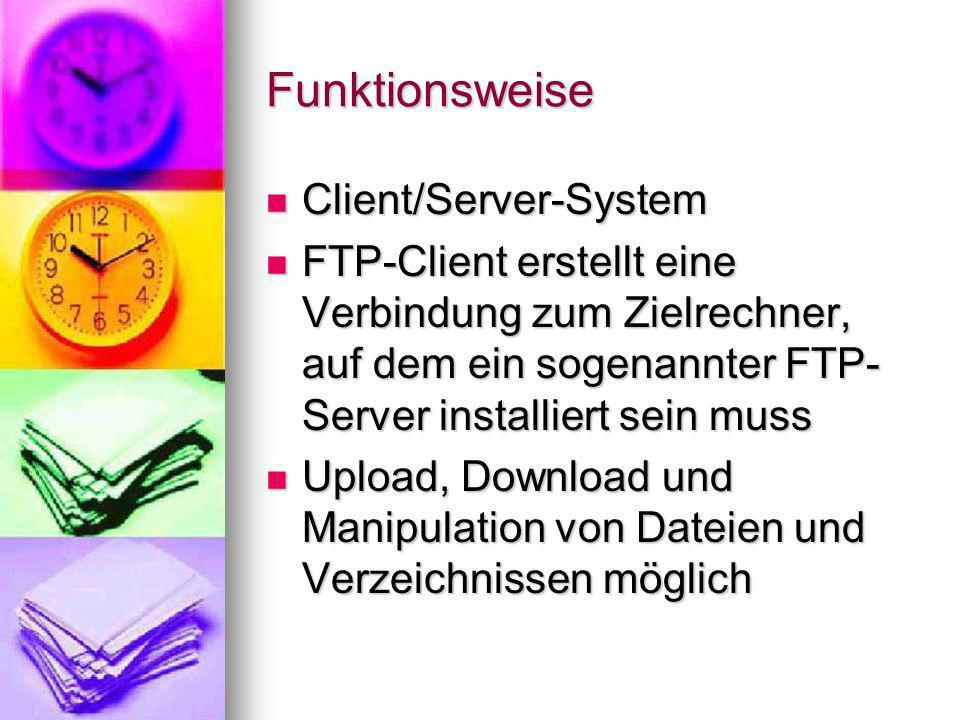 Funktionsweise Client/Server-System
