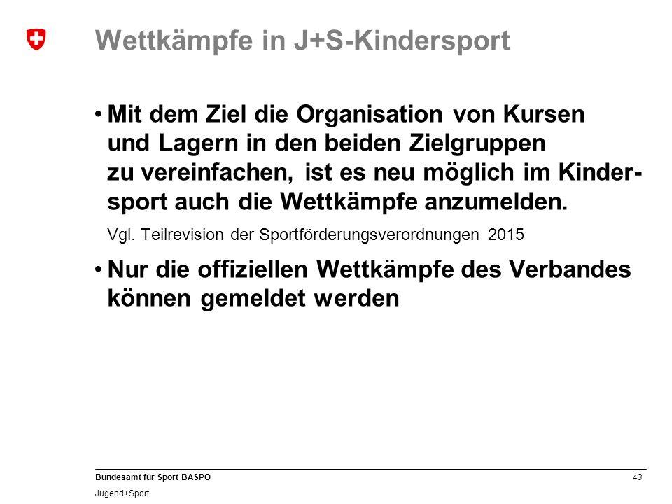 Wettkämpfe in J+S-Kindersport