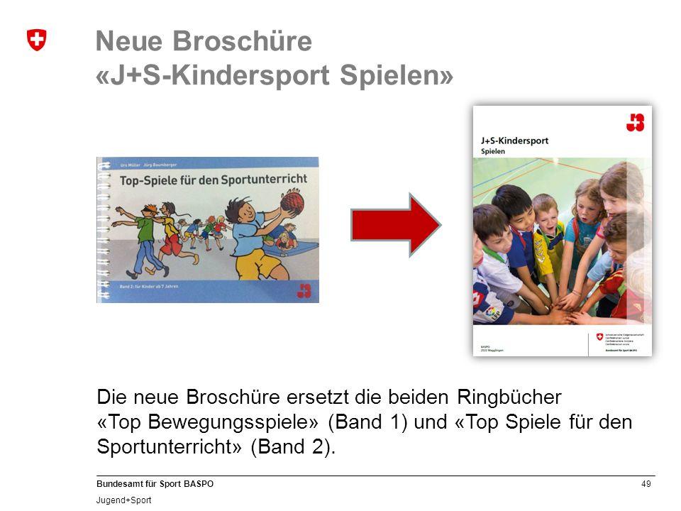 Neue Broschüre «J+S-Kindersport Spielen»