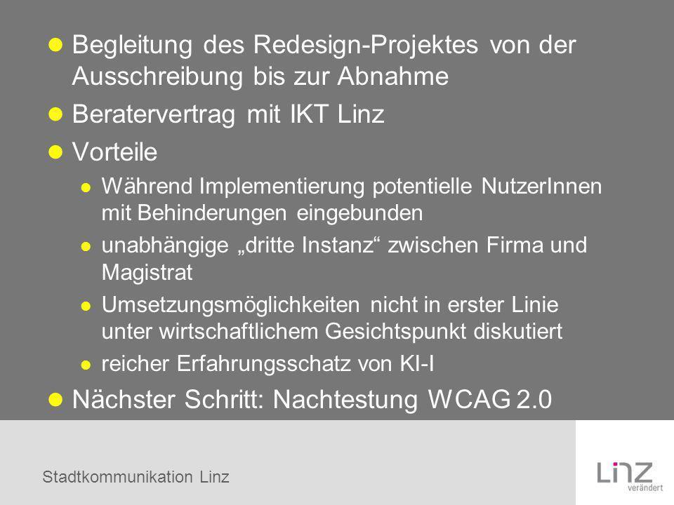 Beratervertrag mit IKT Linz Vorteile