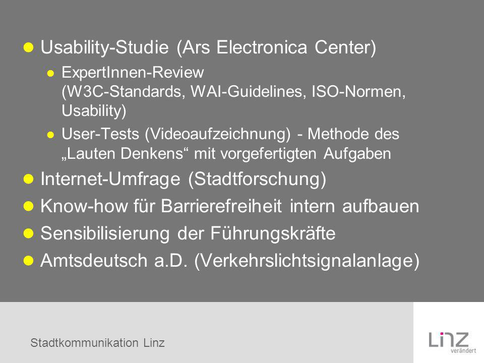 Usability-Studie (Ars Electronica Center)