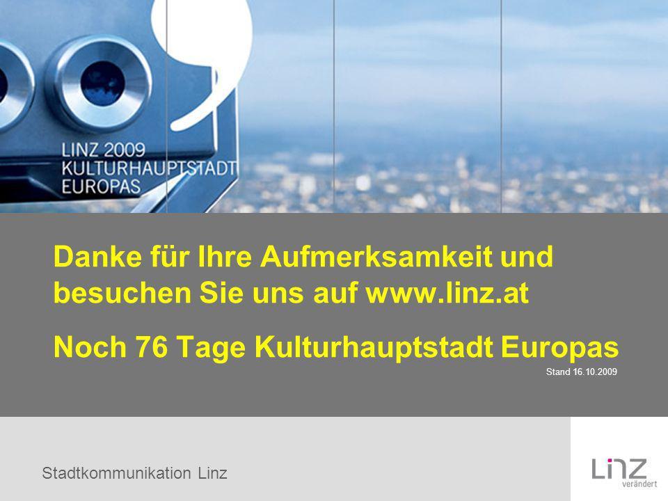 Danke für Ihre Aufmerksamkeit und besuchen Sie uns auf www.linz.at