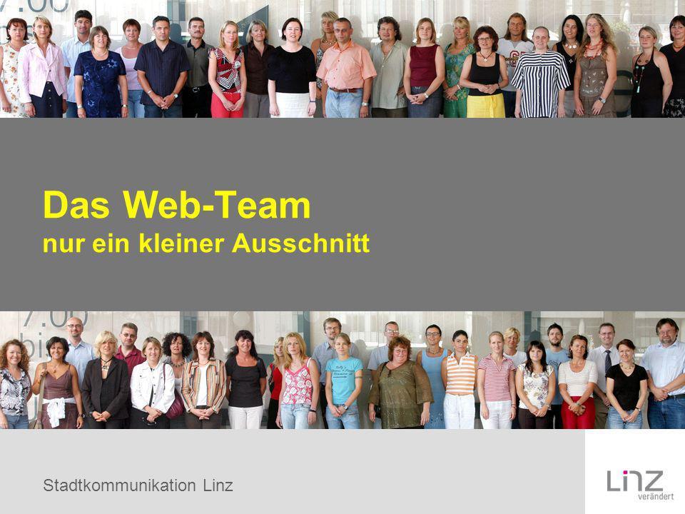Das Web-Team nur ein kleiner Ausschnitt