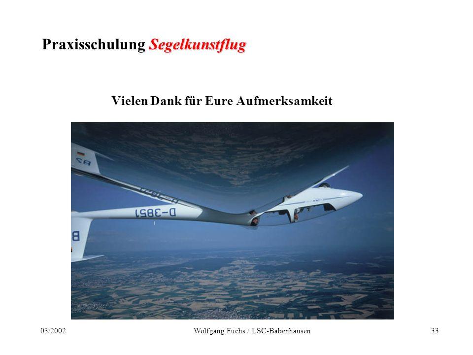 Praxisschulung Segelkunstflug