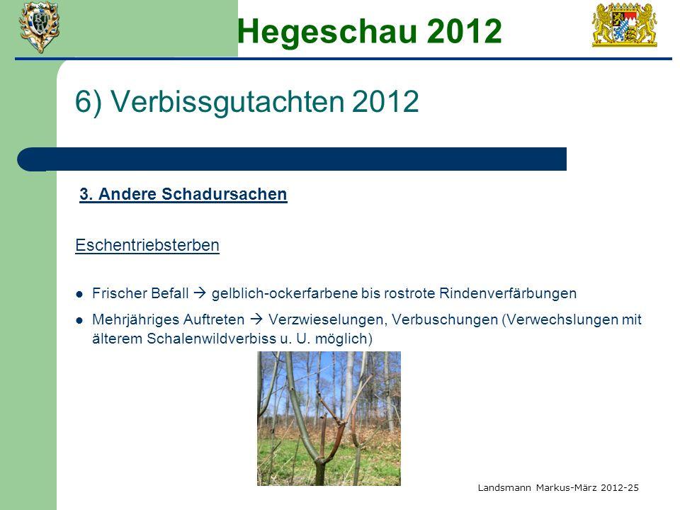 Hegeschau 2012 6) Verbissgutachten 2012 Eschentriebsterben