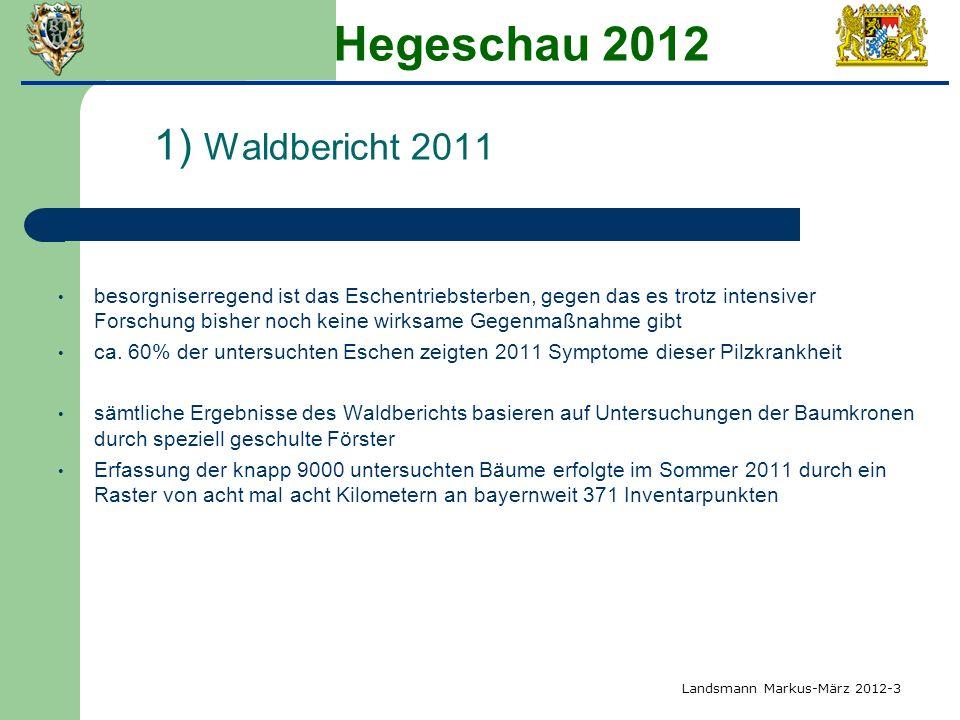 Hegeschau 2012 1) Waldbericht 2011