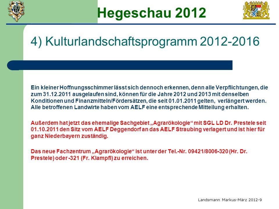Hegeschau 2012 4) Kulturlandschaftsprogramm 2012-2016
