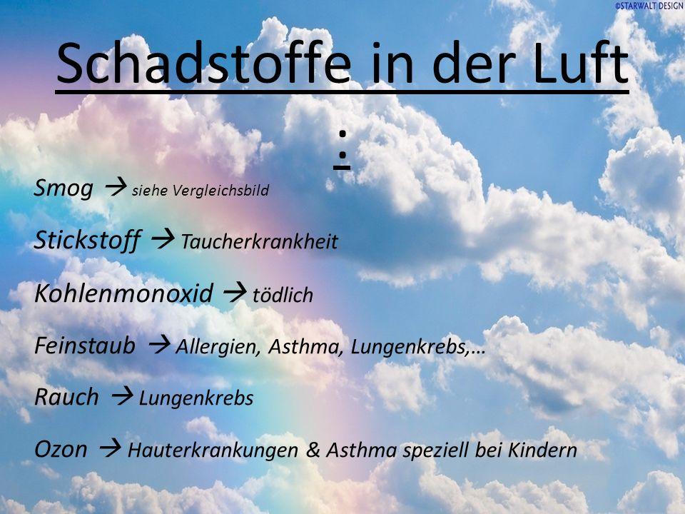 Schadstoffe in der Luft :