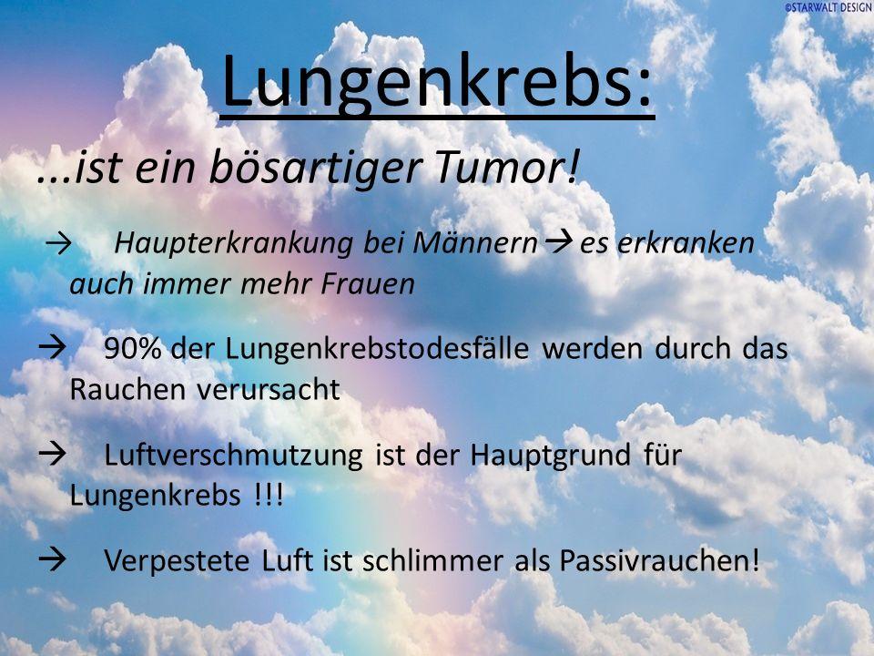 Lungenkrebs: ...ist ein bösartiger Tumor!